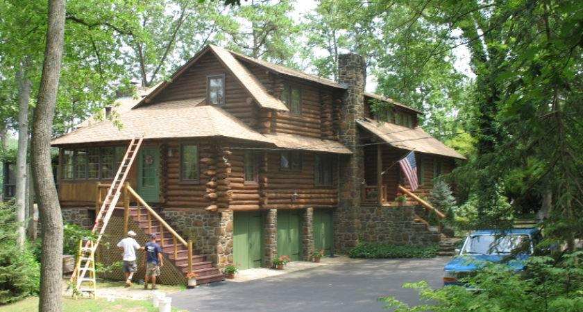 Log Homes Wood Sided Deck Restoration Plus