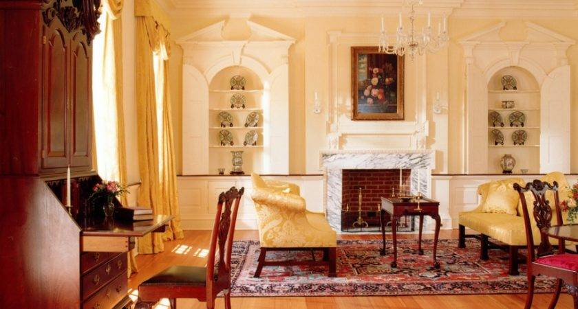 Lovely Example Antique Filled Georgian Colonial Sitting Room