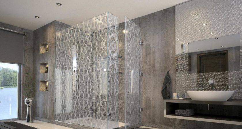 Luxury Showers Robert Stern Contemporary Tile Silver Shower