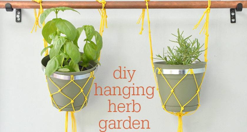 Macram Insanely Easy Indoor Hanging Herb Garden Nest