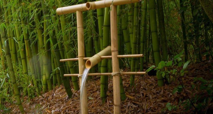 Make Bamboo Water Fountain Frighten Critters Your Garden