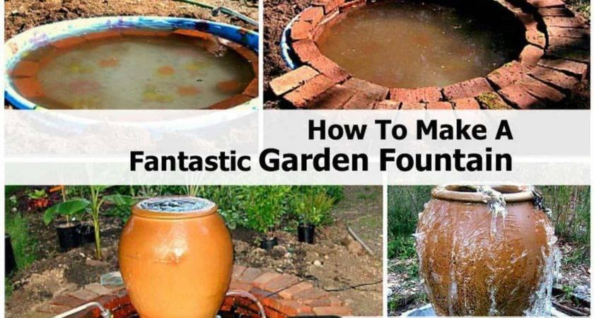 Make Garden Fountain Small