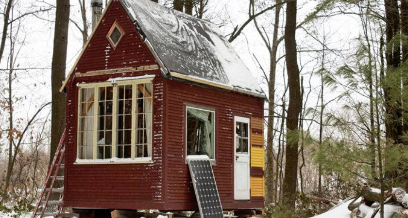 Man Builds Timber Frame Tiny House