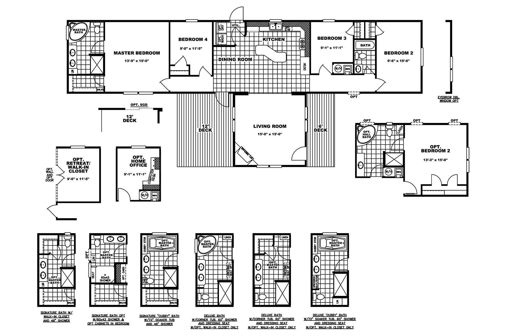 Manufactured Home Floor Plan Clayton Dakota Lar
