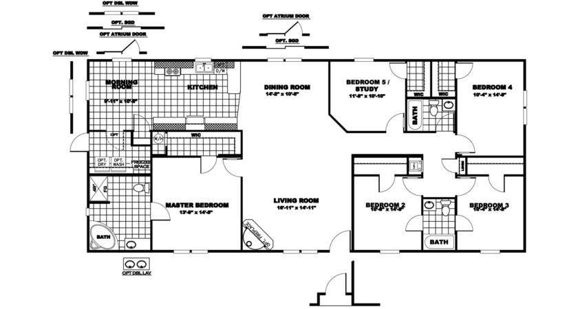 Manufactured Home Floor Plan Clayton Pinebrook Bedroom