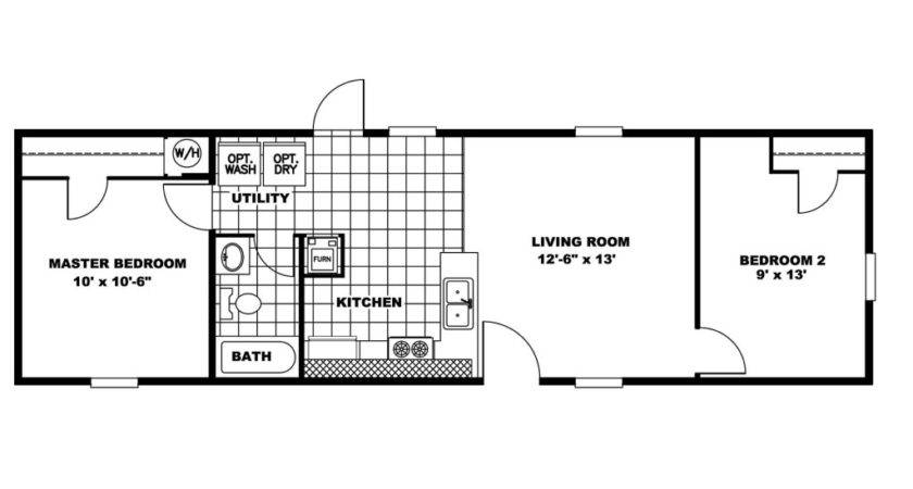Manufactured Home Floor Plan Clayton Vision Vis Factory