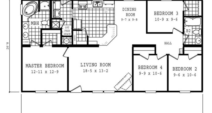 Manufactured Home Floor Plan Oakwood Cla
