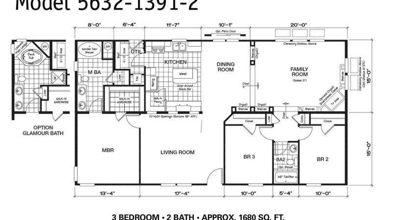 Manufactured Home Floor Plan Oakwood Plt