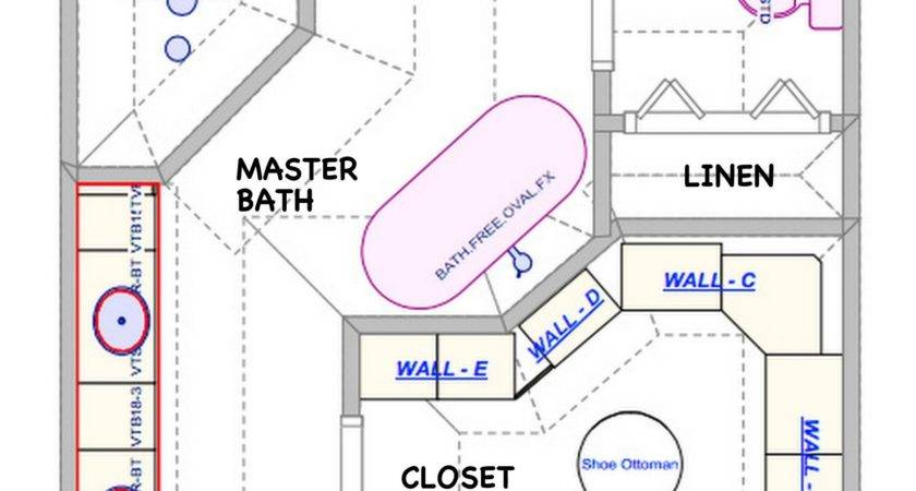 Master Bedroom Bath Floor Plans Closet Plan