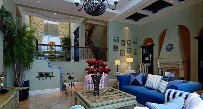 Mediterranean Living Room Design European Style Photos