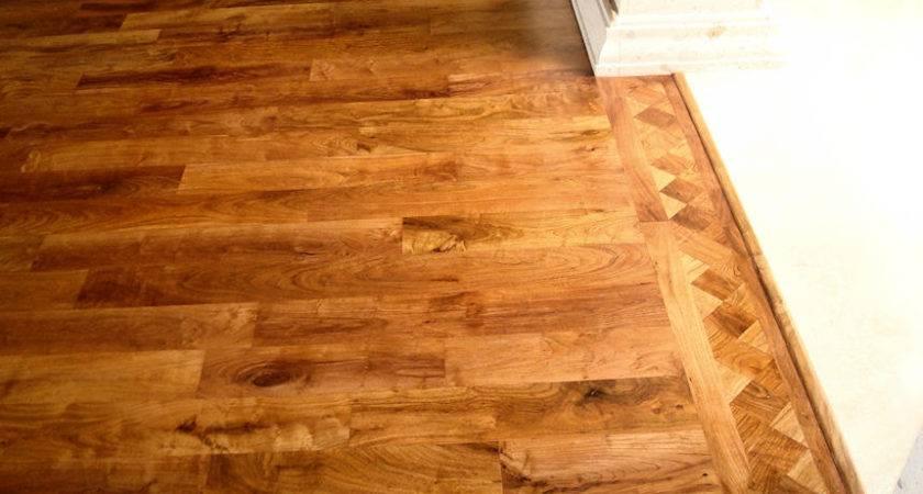 Mesquite Floor Strip End Grain Border Design