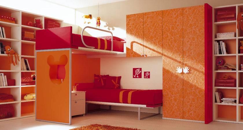 Minimalist Bunk Bed Amazing Bedroom Designs Orange Wardrobe