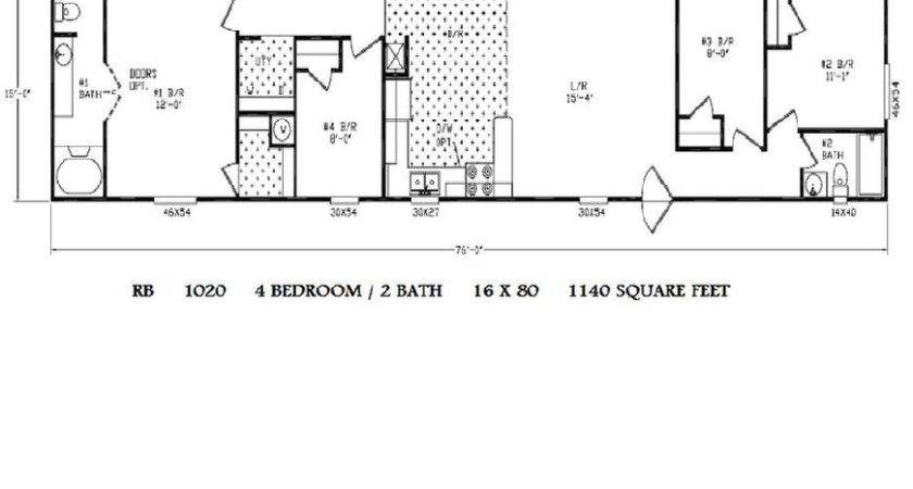 Mobile Home Floor Further Single Wide Plans