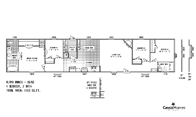 Mobile Home Floor Plans Clayton Kaf Mobile Homes 18391