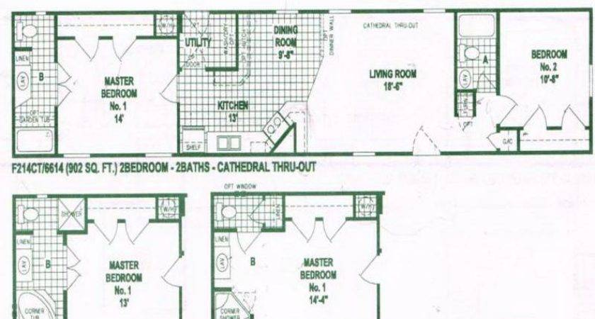 Mobile Home Floor Plans Option Single Wide