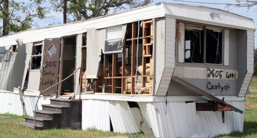 Mobile Home Gutted Katrina