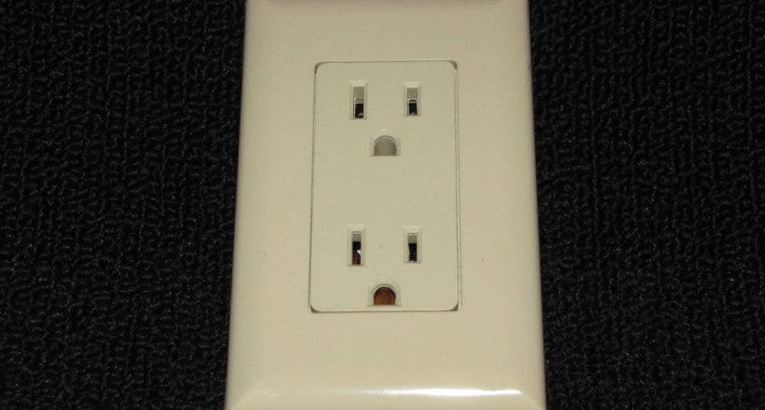 Mobile Home Parts Self Contained Outlet Includes Cover Plate Almond