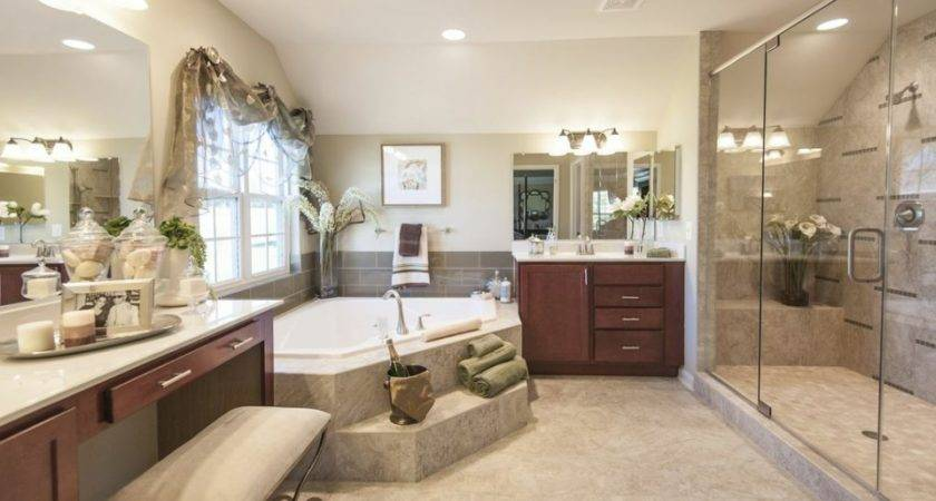 Model Home Master Bathroom Features Our Chic Stone Porcelain