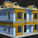 Model House Building Low Poly Cgtrader