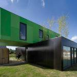 Modular Homes Architecture Fascinating Green Black Modern Prefab