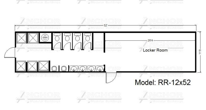 Modular Restroom Bathroom Floor Plans