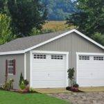 Modular Two Car Garage Paint Clay Trim
