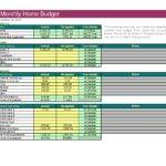 Monthly Household Budget Template Quotes