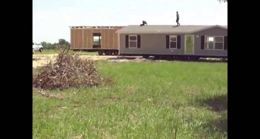 Moving Double Wide Home Into Place Youtube