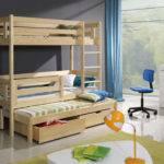 New Wooden Childrens Triple Bunk Beds Basic Foam