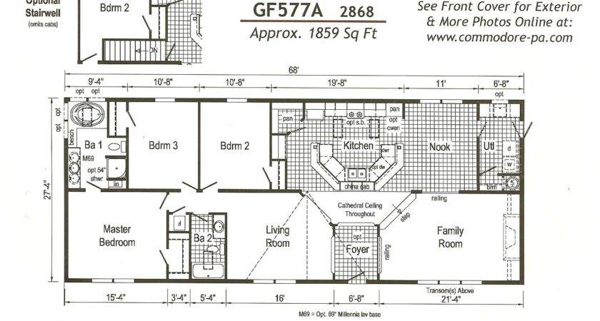 Nice Mobile Home Plans Double Wide