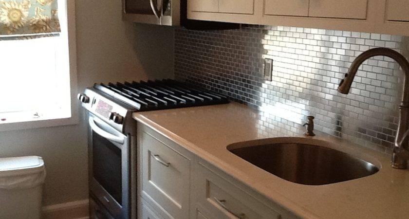 Our Customers Used Stainless Steel Mosaic Tile Backsplash