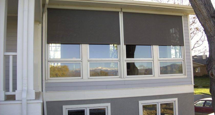 Our Oasis Exterior Window Shades Perfect Solution