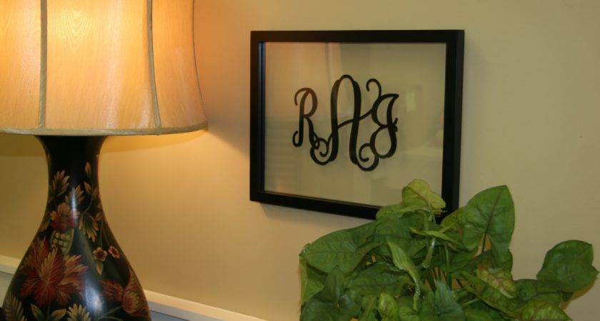Our Obsession Vinyl Monogram Home Cor Initial Outfitters