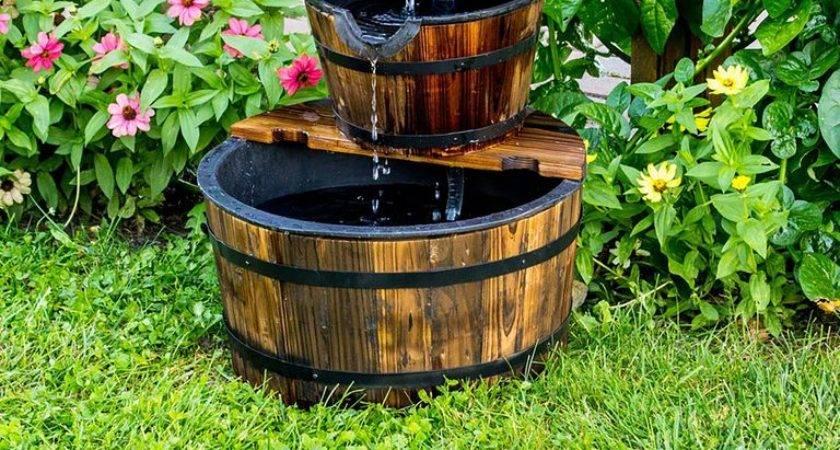 Outdoor Fountain Ideas Make Garden