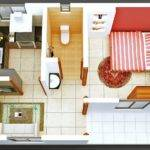 Plan Give One Bedroom Bathroom Apartment Sense Style
