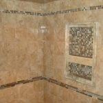 Porcelain Tile Shower Glass Slate Borders Niche New