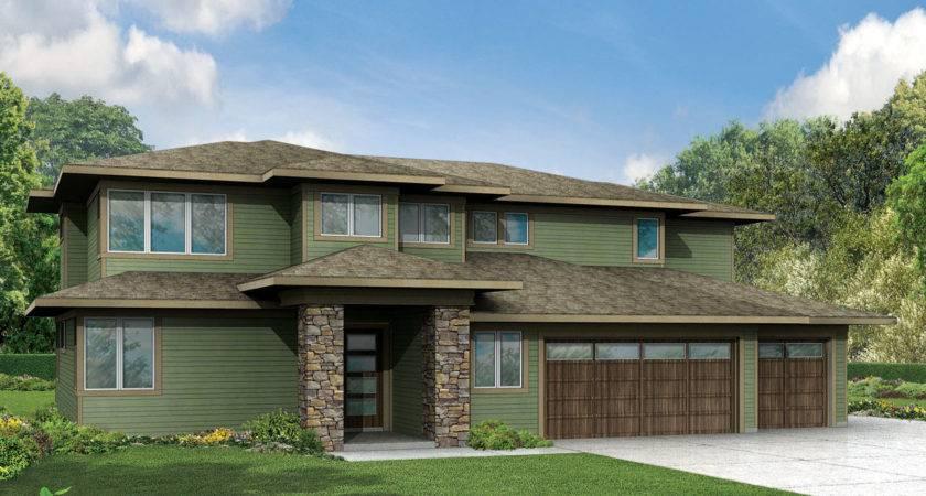 Prairie House Plan Bedrm Home