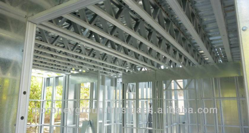 Pre Made Steel House Frames Floor Systems Trusses