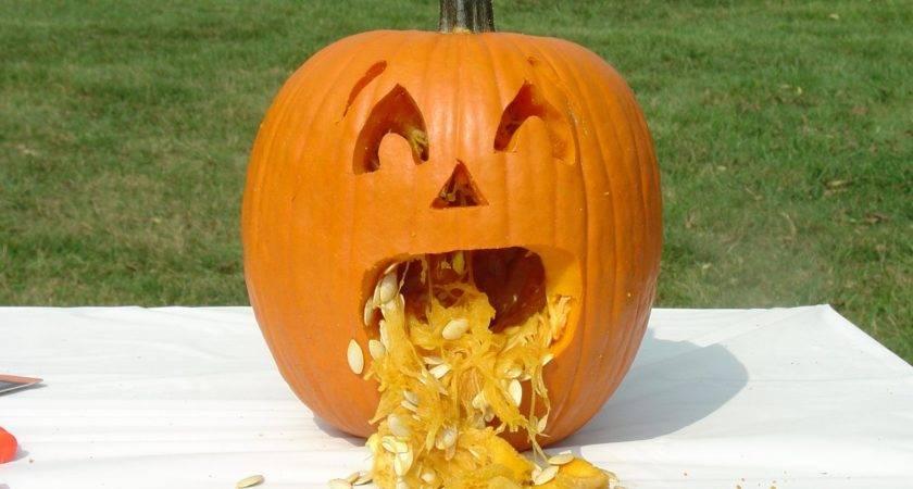 Pumpkin Carving Idea Ever Take Look Vomiting Jack Lantern