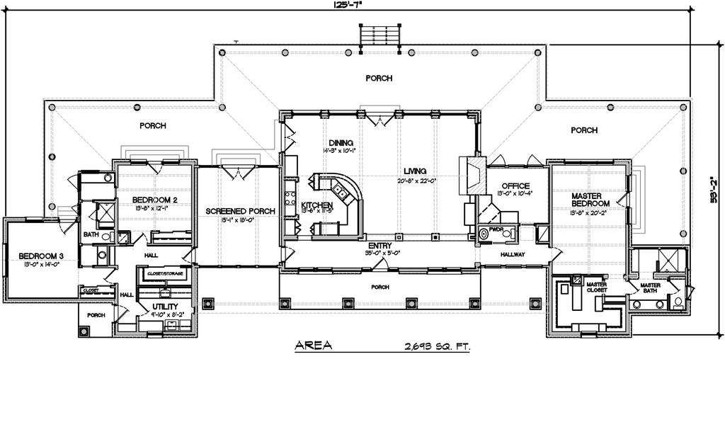 modern ranch floor plans - 1024×620