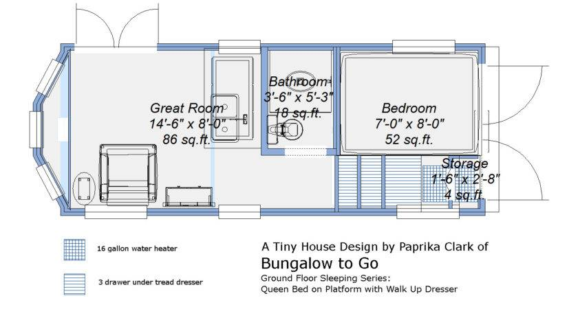 Real Time Tiny Ground Level Bed House
