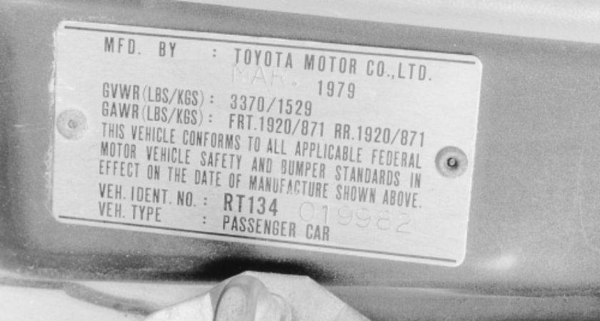 Repair Guides Serial Number Identification Vehicle