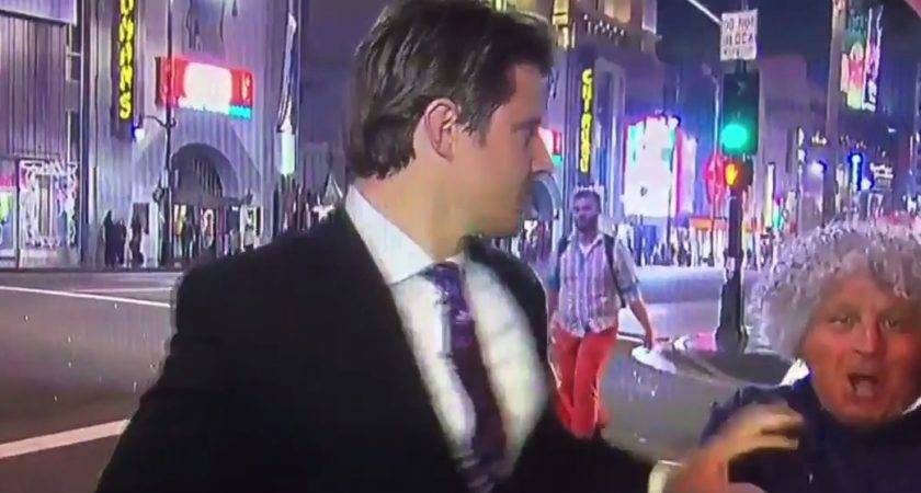 Reporter Stiff Arms Videobomber Perfectly Rtm Rightthisminute