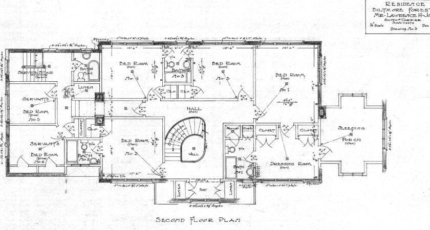 Residence Biltmore Forest Lawrence Jones Second Floor Plan
