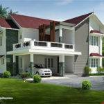 Roof Bedroom Villa Design Green Homes Thiruvalla Kerala