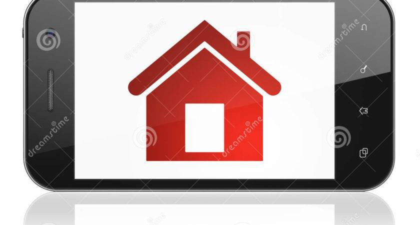 Safety Concept Home Smartphone Illustration