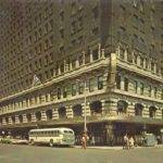 Sherman House Hotel Corner Perspective Bus Taxis