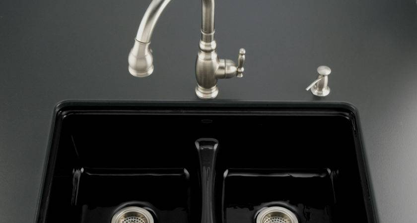 Shop Kohler Black Hole Double Basin Cast Iron