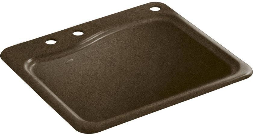 Shop Kohler Black Tan Cast Iron Laundry Sink Lowes
