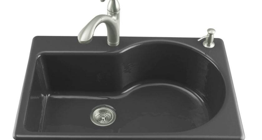 Shop Kohler Entree Black Single Basin Cast